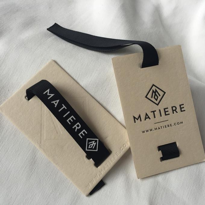 12mm ribbon attached creative clothing hang tags retail