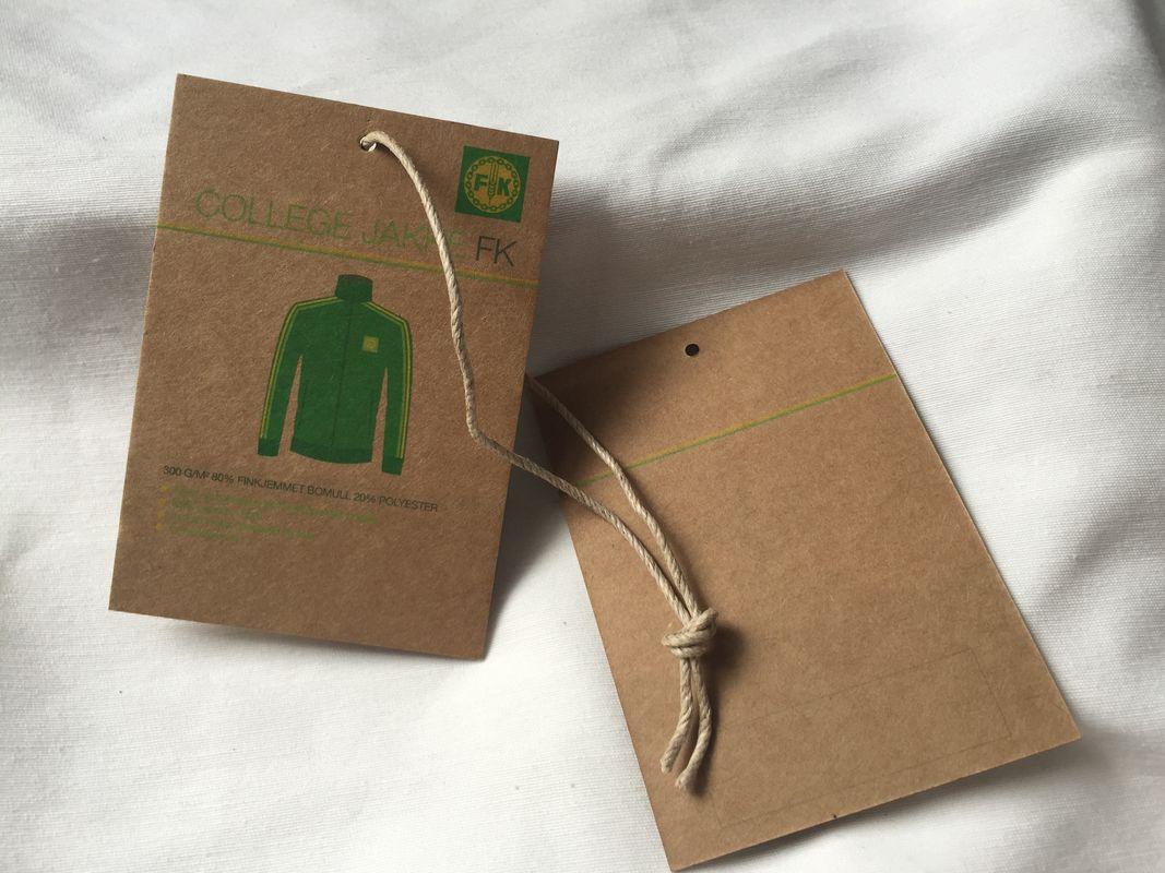 3 Colors Brown Kraft Paper Hang Tag , 3mm Cotton / Linen Cord ...